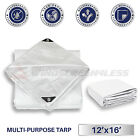 White Heavy Duty 10 mil Tarp Reinforced Resistant Cover Boat Shelter Canopy