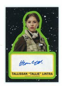 Star Wars Journey Rise of Skywalker Hermione Corfield Tallissan Lintra Autograph