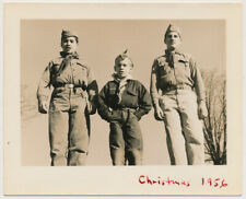 Teen Boy Scouts Standing in Uniforms vintage 50's Christmas photo 1956