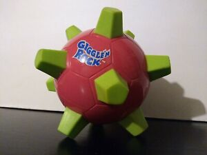 Vtg Electronic Giggle'n Rock Bounces Stops And Giggles Pink w/ Lime Green Spikes
