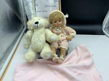 Gabriele Müller Künstlerpuppe Porzellan Puppe 22 cm. Top Zustand