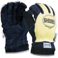 Shelby 5285L Firefighters Gloves,L,Cowhide Lthr,Pr