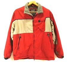 Abercrombie & Fitch Mens Large All Weather Jacket Coat Red Gray