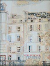 """Orfeo Tamburi (Jesi,1910 – Parigi,1994)"""" Case a Parigi """" Acquerello"""