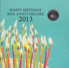 2013 Canada Happy Birthday Gift Set with Special Commemorative Quarter - Rare