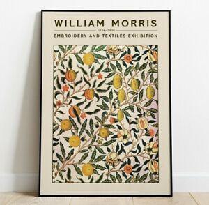 William Morris Fine Art Print, William Morris Exhibition Poster, Fruit Art Print