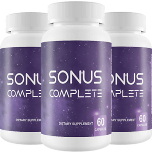 BRAND NEW Sonus Complete Tinnitus Relief Supplement, 180 Capsules (3 BOTTLES)