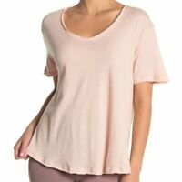 "ALO YOGA Playa T-Shirt Yoga Pilates Athleisure Light Pink ""Nectar"" Size XS NWT"