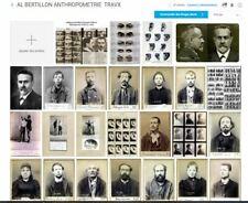 LOT25 PHOTOS TRAVAUX ALPHONSE BERTILLON ANTHROPOMETRIE POLICIERE REPRODUCTIONS