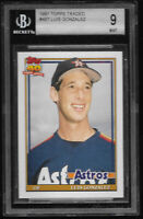 1991 Topps Traded Luis Gonzalez Houston Astros RC #48T BGS 9 MINT Rookie Card
