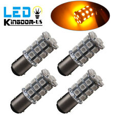 4X Amber/Yellow 1157 BAY15D 27SMD LED Backup Reverse Turn Signal Light Bulbs