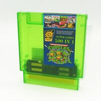 Super Games 500 in 1 Nintendo NES Cartridge Multicart - TRANSPARENT GREEN