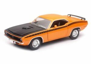 Plymouth Cuda (1970) in Orange (1:24 scale by New-Ray Toys 71873B)