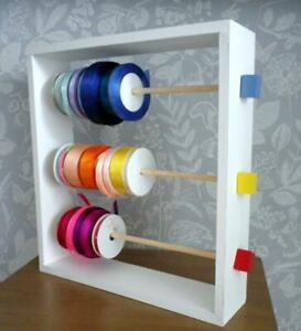 NEW Ribbon holder / Solid Wood Storage Rack for Cardmaking / Craft / Floral
