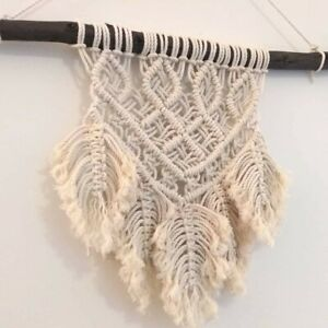 Macrame wall hanging 45cm x 40cm boho feather dreams