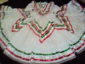 Mexican Folkloric Jalisco Style,Dance,Ballet,1 Pcs Dress,Jr.Size