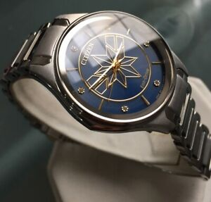 Ladies Genuine Citizen Eco Drive Solar Watch Captain Marvel Avengers EM0596-58W