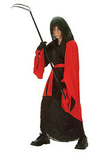 Phantom Warrior Child Costume Red Black Reaper Robe Size Medium 8-10