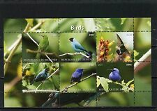 BURUNDI 2011 FAUNA/BIRDS SHEET OF 6 STAMPS MNH