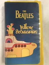 The Beatles Yellow Submarine Classic VHS Tape Movie Yellow Clam Shell Case