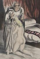 Bell San André : il Monaco e La Giovane Vergine - Lotto Di 2 Acqua Forte, 1931