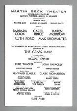 """Barbara Cook """"THE GRASS HARP"""" Truman Capote / Karen Morrow 1971 Preview Playbill"""