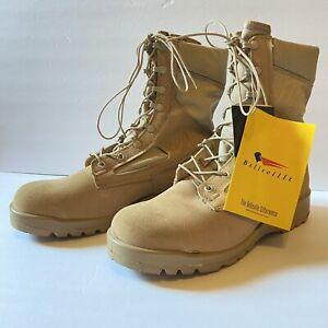 Belleville Men's 390 DES Tan Combat Boots Size 9.5W