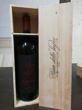 Cassa legno Vino Pian delle vigne da 3 litri completa di bottiglia Vuota