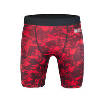 Bad Boy X-Train Compression Shorts Red Vale Tudo VT MMA BJJ No-Gi Fight