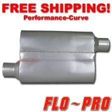 """2 Chamber Performance Exhaust Street Muffler FLO-PRO Super V 2.25"""" O/O - V42443"""