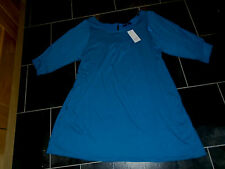 Ladies New with tags Evans blue short dress or long tunic top size 22-24