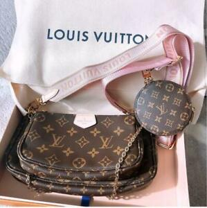 LOUIS VUITTON Multi Pochette Accessoir Crossbody Bag Pouch Coin Case M44840 Pink