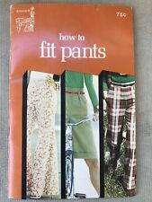 New listing Vintage 1974 Singer Sewing Machine Book - How to Fit Pants - Fitting Techniques