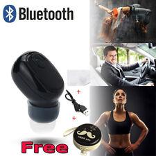 Bluetooth Wireless Waterproof Stereo Earphone Earbud Sport Headset Headphone BK