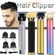 Cordless Men's Hair Trimmer Clipper Barber Machine Cutting T-Blade Styling Tool