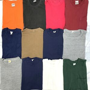 VTG Blank Pocket Tees t shirt lot 60s 70s 80s 12 Single Stitch USA Fruit Bundle