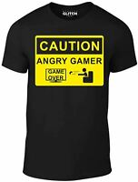 Men's Angry Gamer T-Shirt - GAME GIFT ARCADE MACHINE RETRO PRESENT VINTAGE FUN