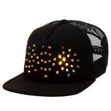 Mens Womens NWT DC Comics Batman LED Logo Trucker Hat Light-Up Baseball Cap e004034ad25