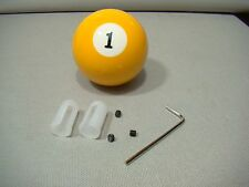 vintage style number one pool ball shifter lever knob covers 1 ball yellow