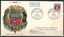 1965 - ENVELOPPE-FDC 1°JOUR -ANCIENNES  ARMOIRIES DE  PARIS - TIMBRE - Yt.1354B