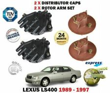 FOR LEXUS LS400 1UZ-FE 1989-1997 NEW 2 X DISTRIBUTOR CAP + 2 X ROTOR ARMS SET
