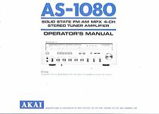 AKAI manuale di istruzioni user manual Owners Manual per AS - 1080