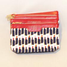 Lot of 5 Estee Lauder Cosmetic Makeup Bag Zipper Lip Kiss #01