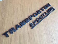 CARBON TRANSPORTER SPORTLINE BADGE SET FOR VW T4 T5 T6 CARAVELLE REAR TAILGATE