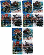 HOT WHEELS Cars Trucks Set of 12 Magic Motion Lenticular Stickers!