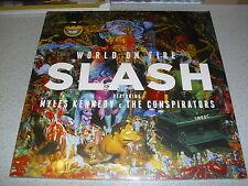 Slash-World on Fire-colored 2 LP VINILE // NUOVO & GATEFOLD // Myles Kennedy