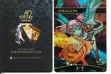 Dragon Token FOIL - Version 2   NM   altered Art Promo - Tokens for MTG