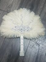 Feather bridemaid wand bouquet  Custom made to order