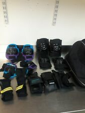 LOT OF PROTECTIVE ELBOW / KNEE PADS -- KIDS / YOUTH + BAG