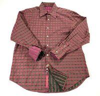ROBERT GRAHAM Checkered Button Up Flip Cuff Long Sleeve Shirt Men's Size XL EUC